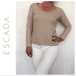 ESCADA SPORT TAN WOOL BLEND SWEATER LARGE